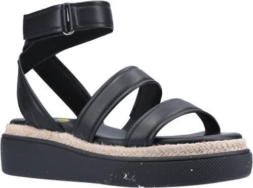 Rocket Dog Franki Recycled PU Sandal Ladies Summer Black